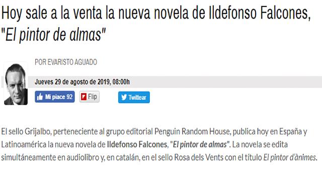"""Hoy sale a la venta la nueva novela de Ildefonso Falcones, """"El pintor de almas"""""""