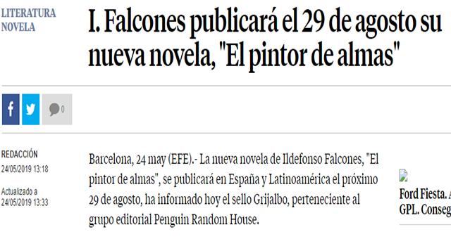 'El pintor de almas': la nueva novela de Ildefonso Falcones