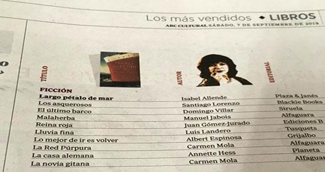 Libros / ABC Cultural / Los más vendidos