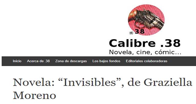 "Novela: ""Invisibles"", de Graziella Moreno"