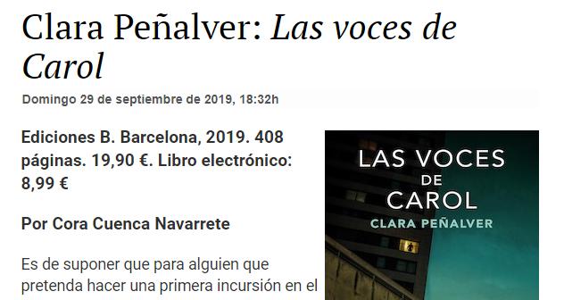 Las voces de Carol de Clara Peñalver