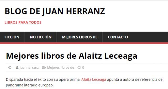 Mejores novelas de Alaitz Leceaga