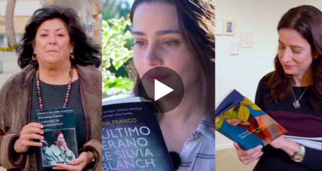 Almudena Grandes, Lorena Franco y Ana Merino en Crea Lectura